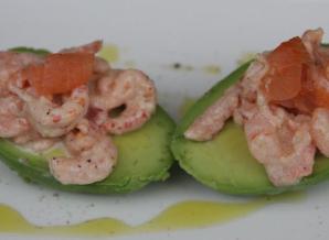 Avocado rivierkreeftjes en garnalen